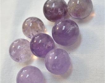 Undrilled genuine 15mm Amethyst bead