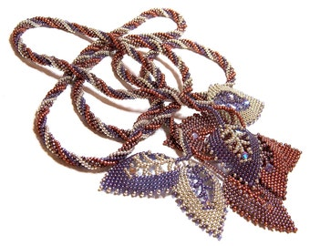 Beading Tutorial - Pattern - Russian Leaf - Lariat - Necklace - Spiral Twist Rope