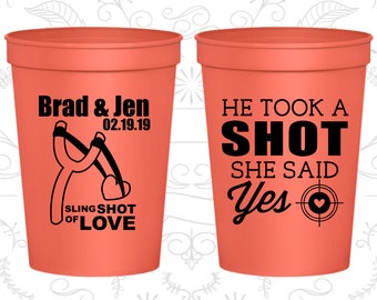 Coral Stadium Cups, Coral Cups, Coral Party Cups, Coral Wedding Cups (558)