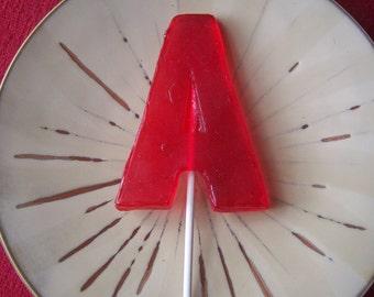 6 Large Letter A B C D E F G H I J K L M N O P Q R S T U V W X Y Z Alphabet Lollipop Party Wedding Favor