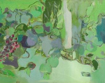 Vineyard Harvest - Fine Art Canvas Print, Painting, Still Life, Dining Room, Vineyard, Green, Winery, Wall Art, Home Decor, Garden