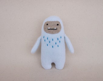 Handmade Felt Yeti / Abominable Snowman