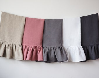 Ruffled linen towels. Ruffled linen hand towels. Linen tea towels by so linen!