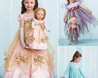 """Simplicity Sewing Pattern 1305 Child's Costumes and Costumes for 18"""" Doll- Sizes 3-8"""