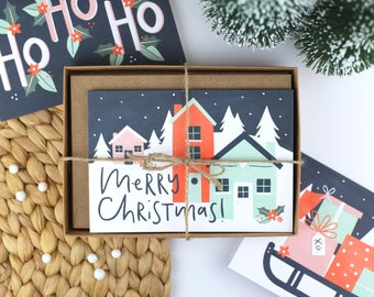 Illustrated Christmas Cards - Set of Eight