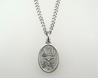 Five Way Medal Necklace