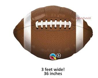 football balloon, graduation decorations, sports player graduates ideas, class of 2018, footballs, balloons, athletes, athletic, team