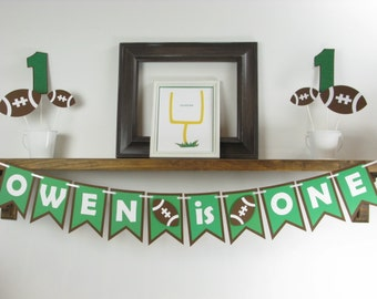 Football Age Banner - Football Name Banner - Football Party - Football Party Decorations