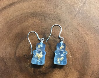 Little Bear Earrings (UV Solar Sun Activated Color Changing Resin With 925 Silver Hook)  - 1 pair