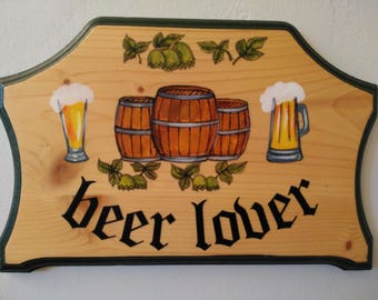 Beer Lover Wood Plaque - Beer Lover Home Decor