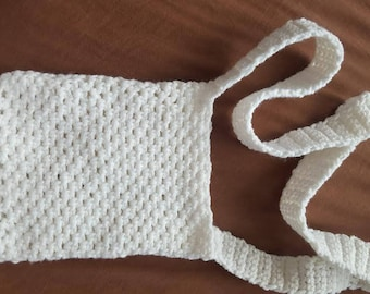 Crochet White Small Bag