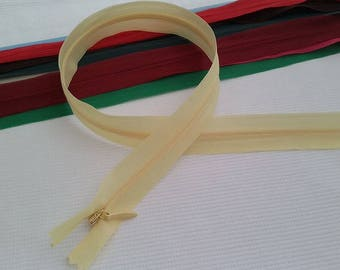 60 cm zipper INVISIBLE yellow pale, zip