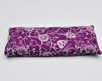 Lavender and flax seed eye pillow