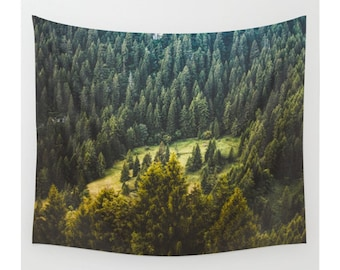 Wall Tapestry, Tree Tapestry, Wall Hanging, Trees Forest Woods Wilderness,Nature Wall Art, Large Photo Wall Art, Modern Tapestry, Home Decor
