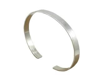 Silver Cuff Bracelet - 3/16 inch