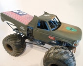 Weathered Scale Model, Ford Monster Truck,Assembled, Classicwrecks,Junker