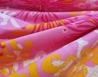 Lee Jofa Lilly Pulitzer 'BIMINI' 100% Cotton Pinks and Orange 1 3/8 yards