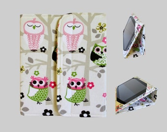 iPad Cover Hardcover, iPad Case, iPad Mini Cover, iPad Mini Case, iPad Air Case, iPad Pro Case, iPad 2, iPad 3, iPad 4 Classy Owls