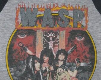 Original W.A.S.P. vintage 1985 tour SHIRT jersey