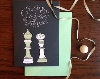 Everyday is a Win with You Chess Themed Anniversary Card