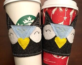 Felt Owl Coffee Cozy