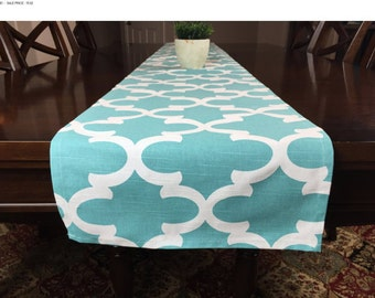 SALE! -  Blue Wedding Table Runner - Table Runner - Wedding Table Decor - Kitchen Table Runner - Kitchen Table Decor - Table Topper