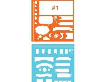 Planner or Bullet Journal stencil