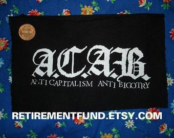 ACAB anti capitalism anti bigotry PATCH