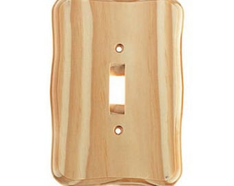 Unfinished Wood Single Switch Plate, 5-5/8-Inch – 9158-20