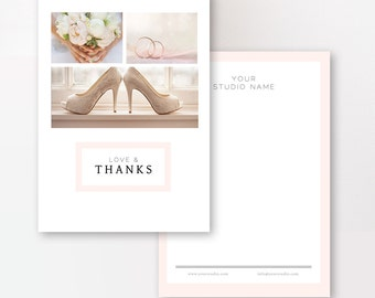 Photographer Thank You Card Templates - Photo Marketing - Wedding Photographer Templates - Photoshop Templates - INSTANT DOWNLOAD