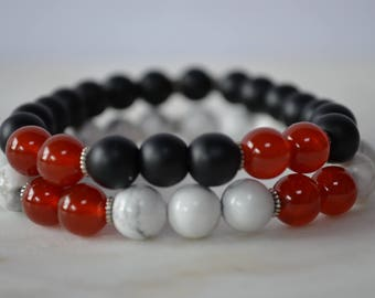 ENERGY. Sacral Chakra. Carnelian Bracelet. Stretch Bracelet. Gemstone Bracelet. Stacking Bracelet. Carnelian Jewellery. Chakra Stones.