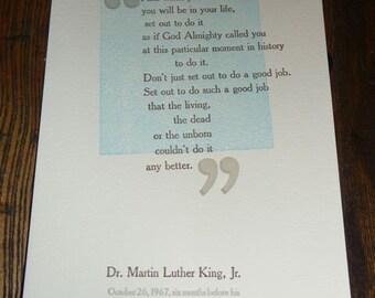 What is Your Life's Blueprint Letterpress Broadside