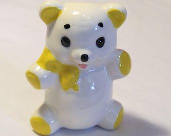 Teddy Bear Macrame Bead, Ceramic