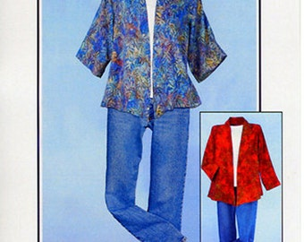 A Little Somethin' Jacket Pattern to Make DIY Sewing CNT Patterns Women Lady Garment