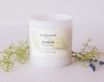LAVENDER soy candle   relaxing candle   natural candle   baby shower gift   hostess gift