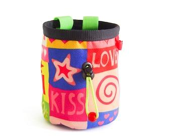 Funky Chalk Bag. Pop Art Chalk Bag Climbing. Chalk Bag for Rock Climbing and Bouldering. Cool and Best Chalk Bag for Climbing, M Size