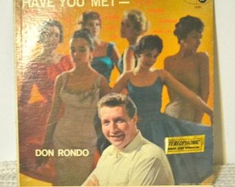 Have You Met – Don Rondo, lp, record, vinyl record, vinyl lp, vintage lp, gift