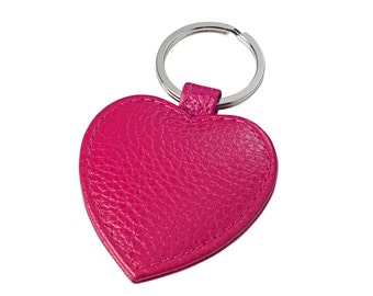 Small Leather Heart Key Ring