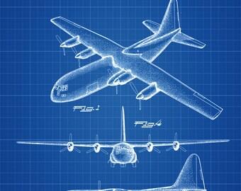 Lockheed C-130 Hercules Airplane Patent - Vintage Airplane, Airplane Blueprint, Airplane Art, Pilot Gift, Aircraft Decor, Airplane Poster,