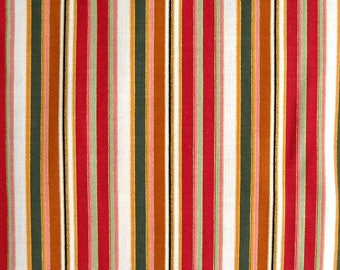 Pansy Passion III Ivory Stripe Quilt Fabric, by Blank Quilting, 100 Percent Cotton, Fabric by the Yard