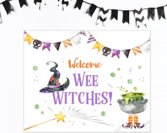 Halloween Party Sign 8x10 / Witch Party / Witch Party Decor