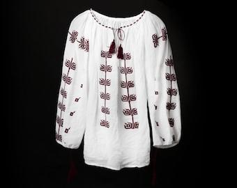 Handmade embroidery bohemian blouse