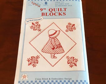 Sunbonnet Sue Pattern for Embroidery Quilt Blocks