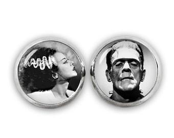 Bride of Frankenstein Stud Earrings Frankenstein Earrings Horror Jewelry Fandom Jewelry Cosplay Fangirl Fanboy