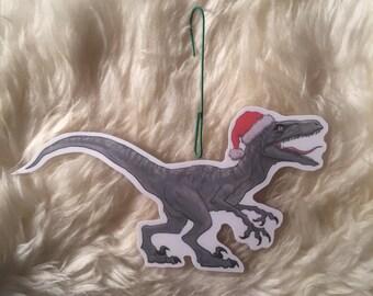 Jurassic Park Velociraptor christmas ornament