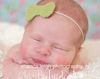 Plain Jane Wool Felt Bow Band in 14 Colors by Chic Baby Rose