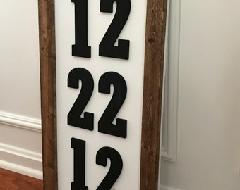 Special Date Sign, anniversary sign, date sign