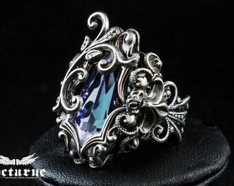 Statement Ring - Swarovski Ring - Engagement Ring - Victorian Jewelry