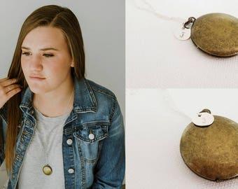 New Locket Necklace - Initial Necklace - Bridesmaid Locket - Wedding Locket - Personalized Locket - Flowergirl Locket - Sterling Silver