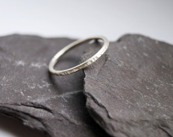 Hammered Stacking Sterling Silver Band ~ stacking ring, silver ring, hammered, textured, stackable, silver ring, wedding band, engagement